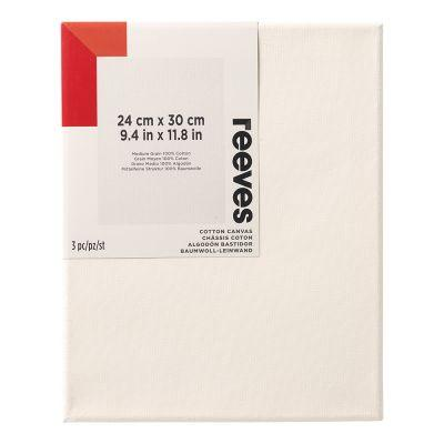 Reeves Standard Stretched Canvas Triple Pack Cartons